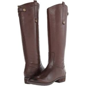 Sam Edelman Tall Brown Leather Penny Riding Boots